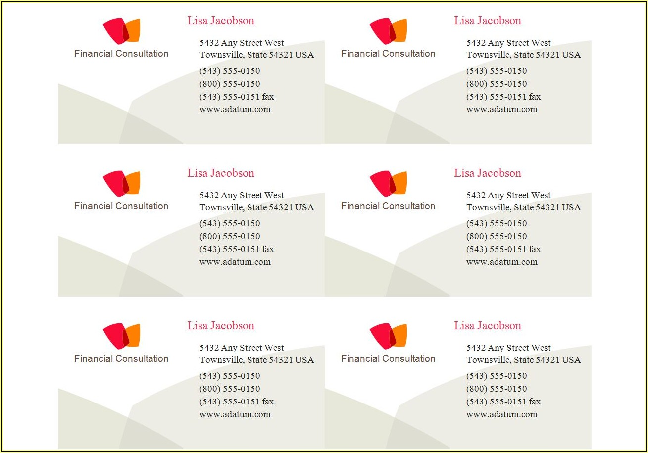 Avery 8879 Business Cards