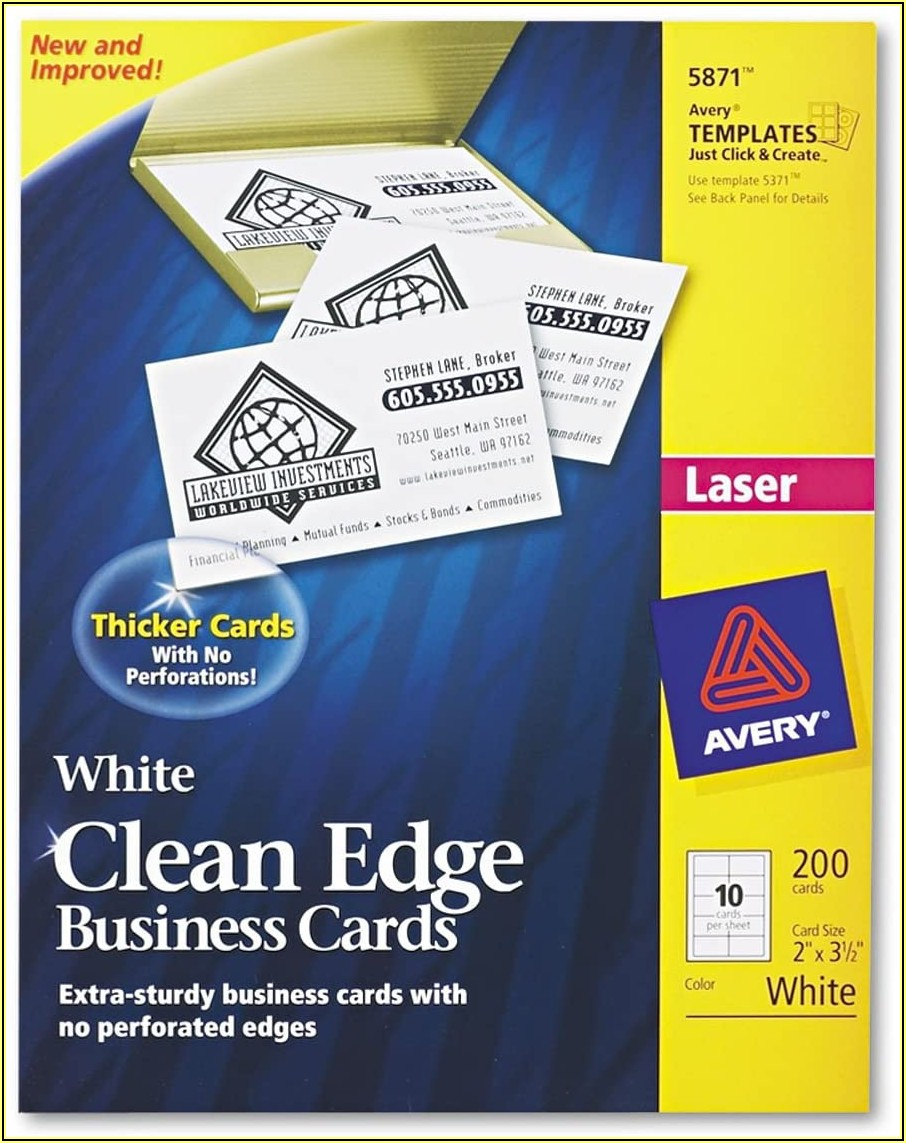 Avery.com Templates Business Cards 5871