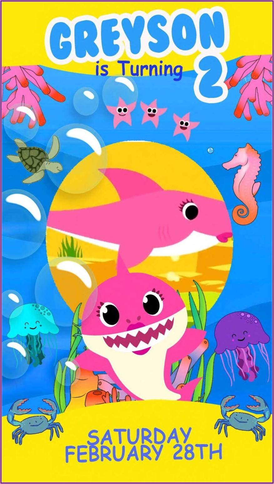 Baby Shark Birthday Invitation Video