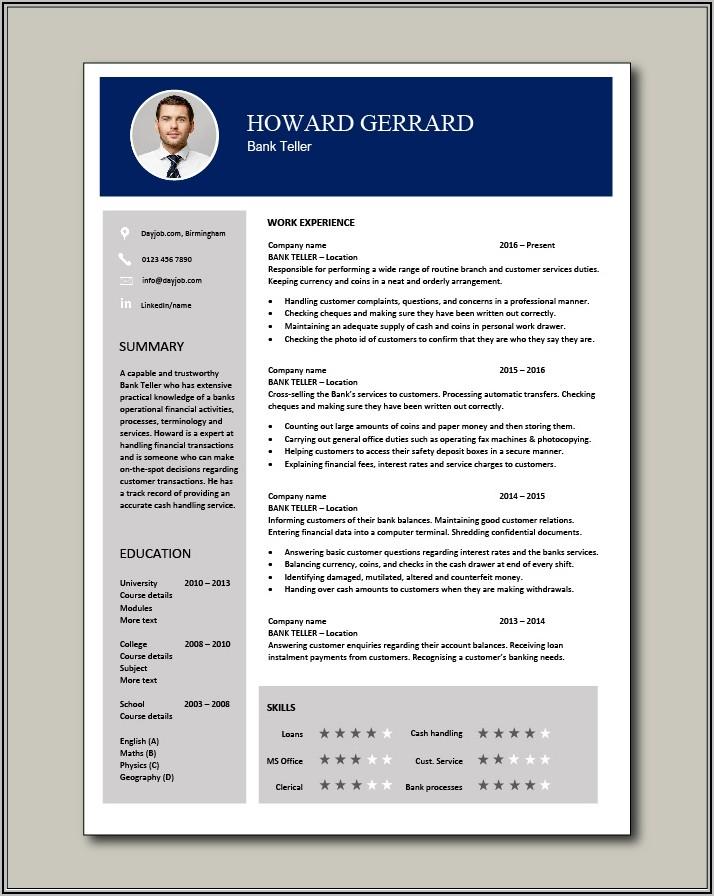Bank Teller Application Letter Sample