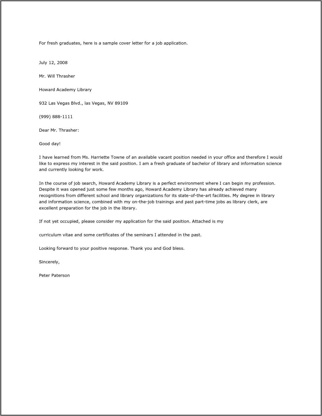 Bank Teller Cover Letter Example No Experience