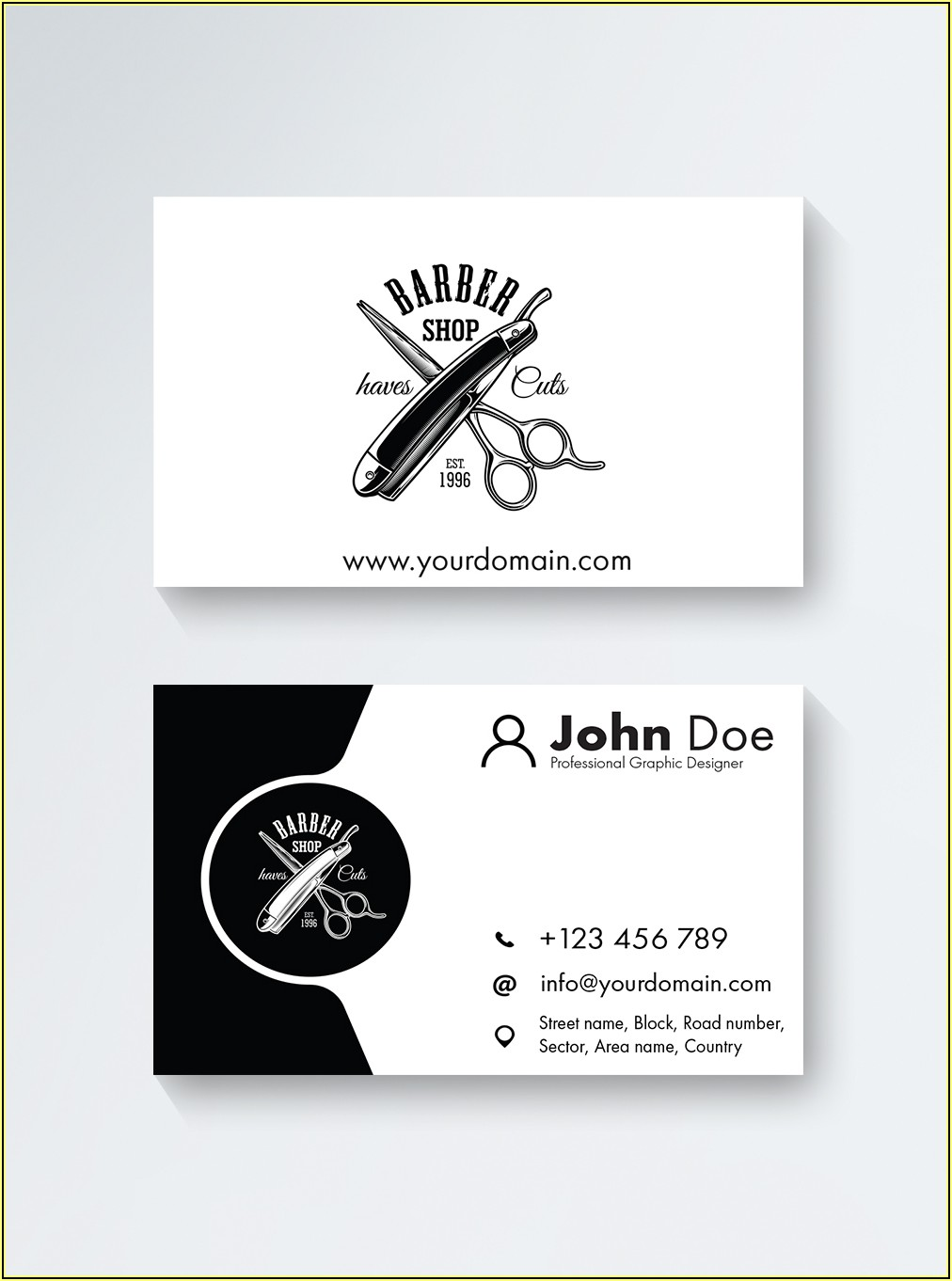 Barber Business Card Template Free