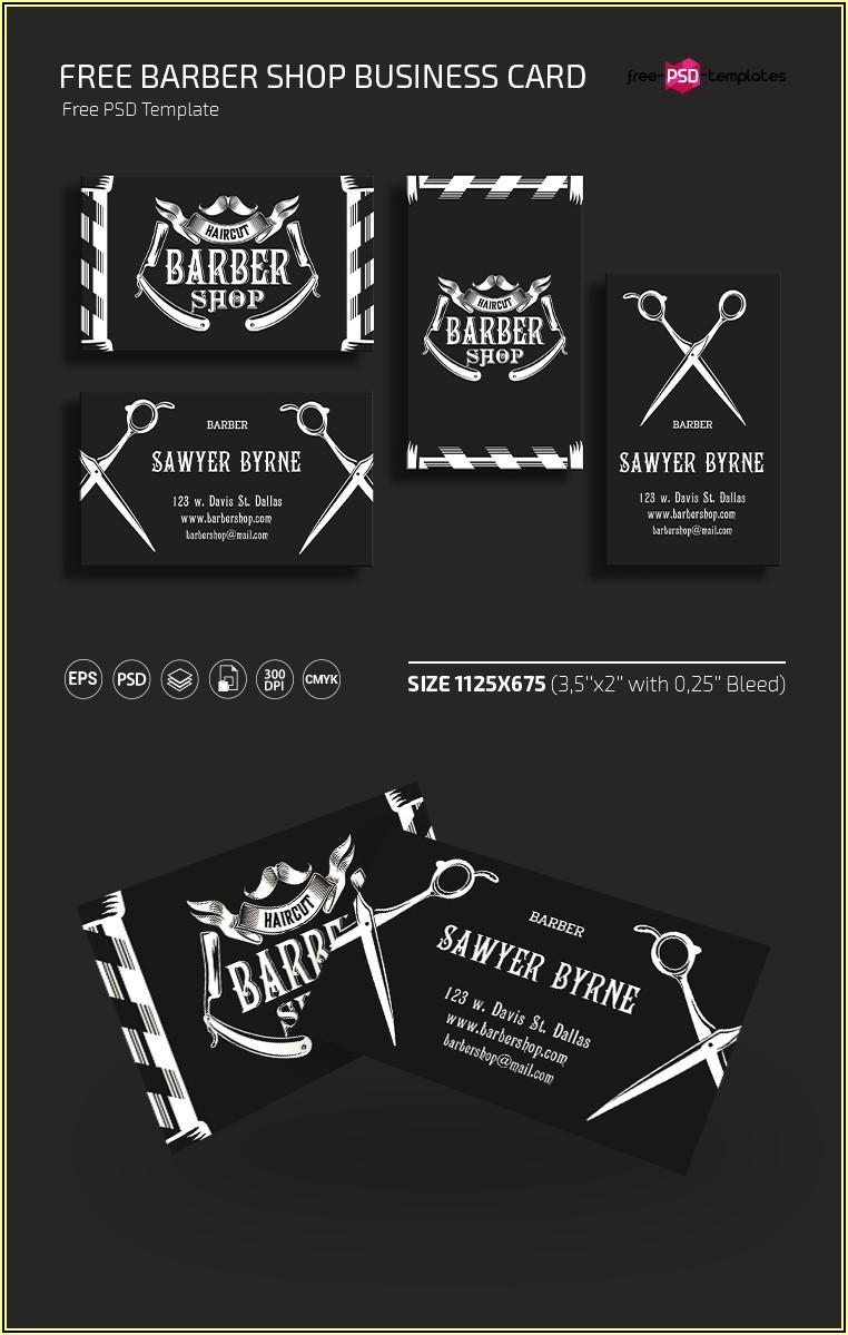 Barber Shop Business Card Templates