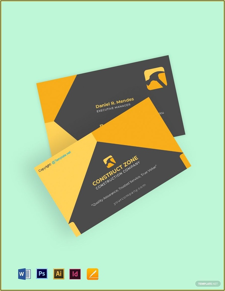 Basic Business Card Template Free