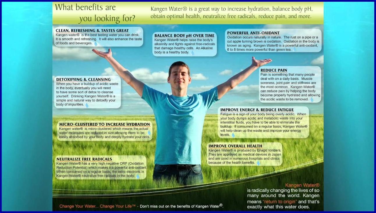 Benefits Of Kangen Water Brochure