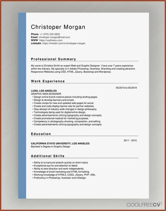 Best Free Resume Builder Pdf