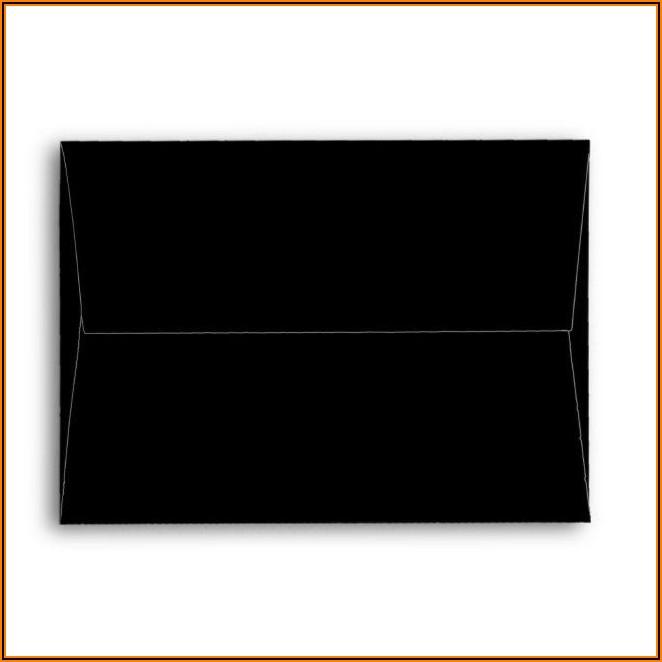 Black Invitation Envelopes 5x7