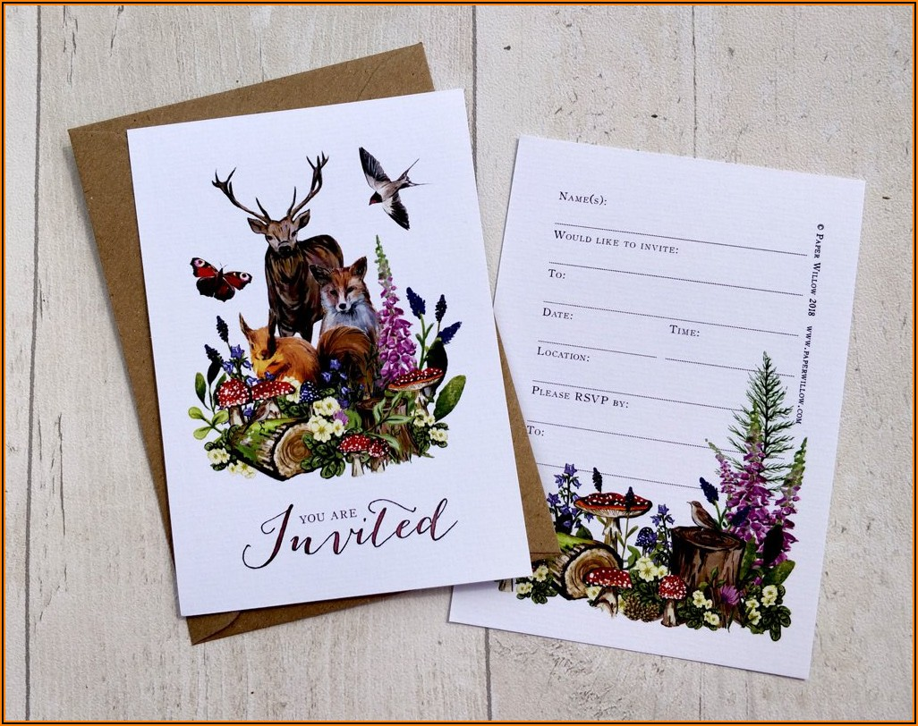 Blank Invitations Cards And Envelopes