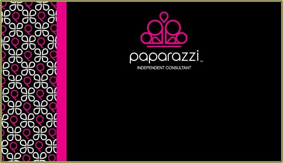 Blank Paparazzi Business Card Templates