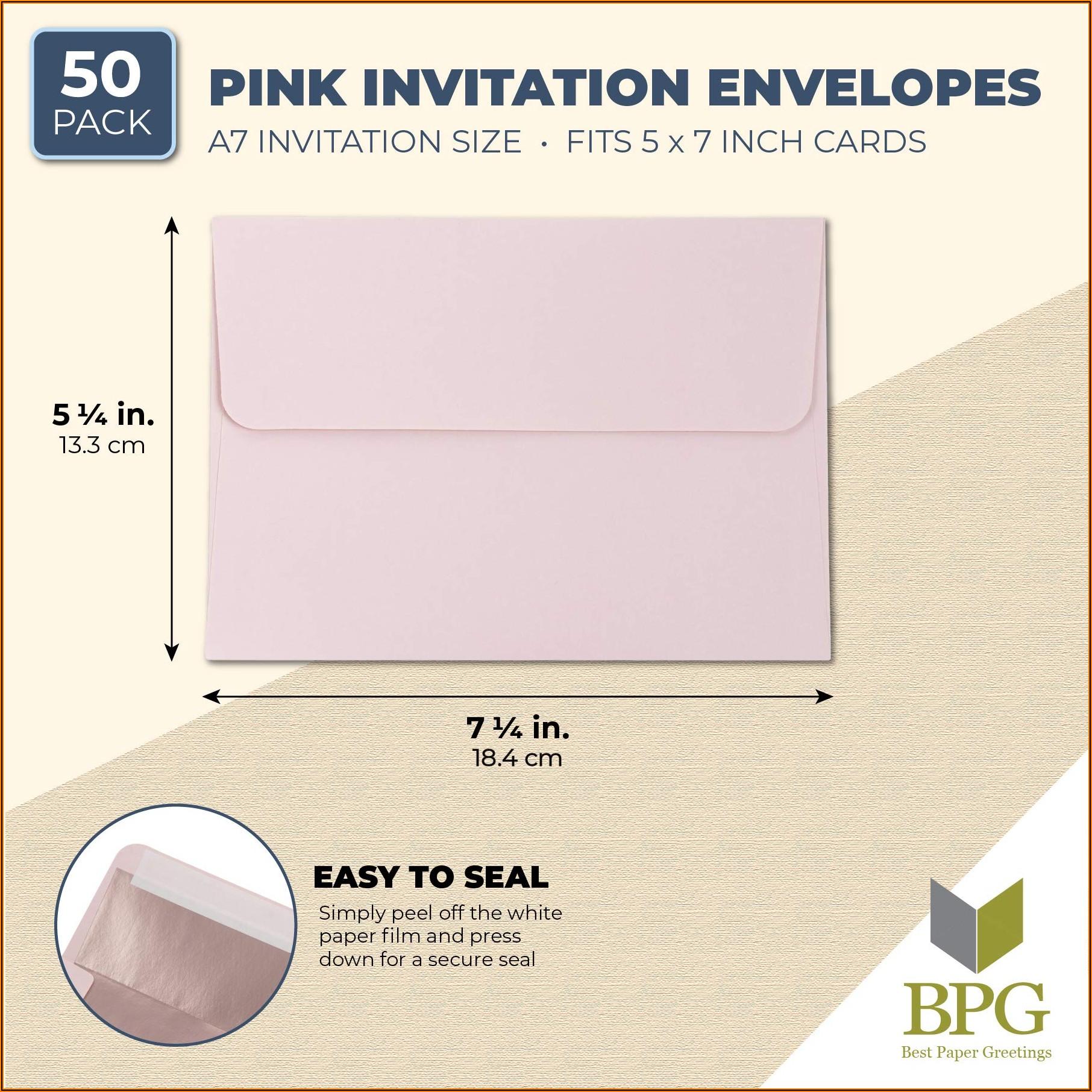 Blush Pink 5x7 Envelopes