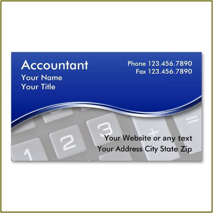 Bookkeeping Business Cards Designs
