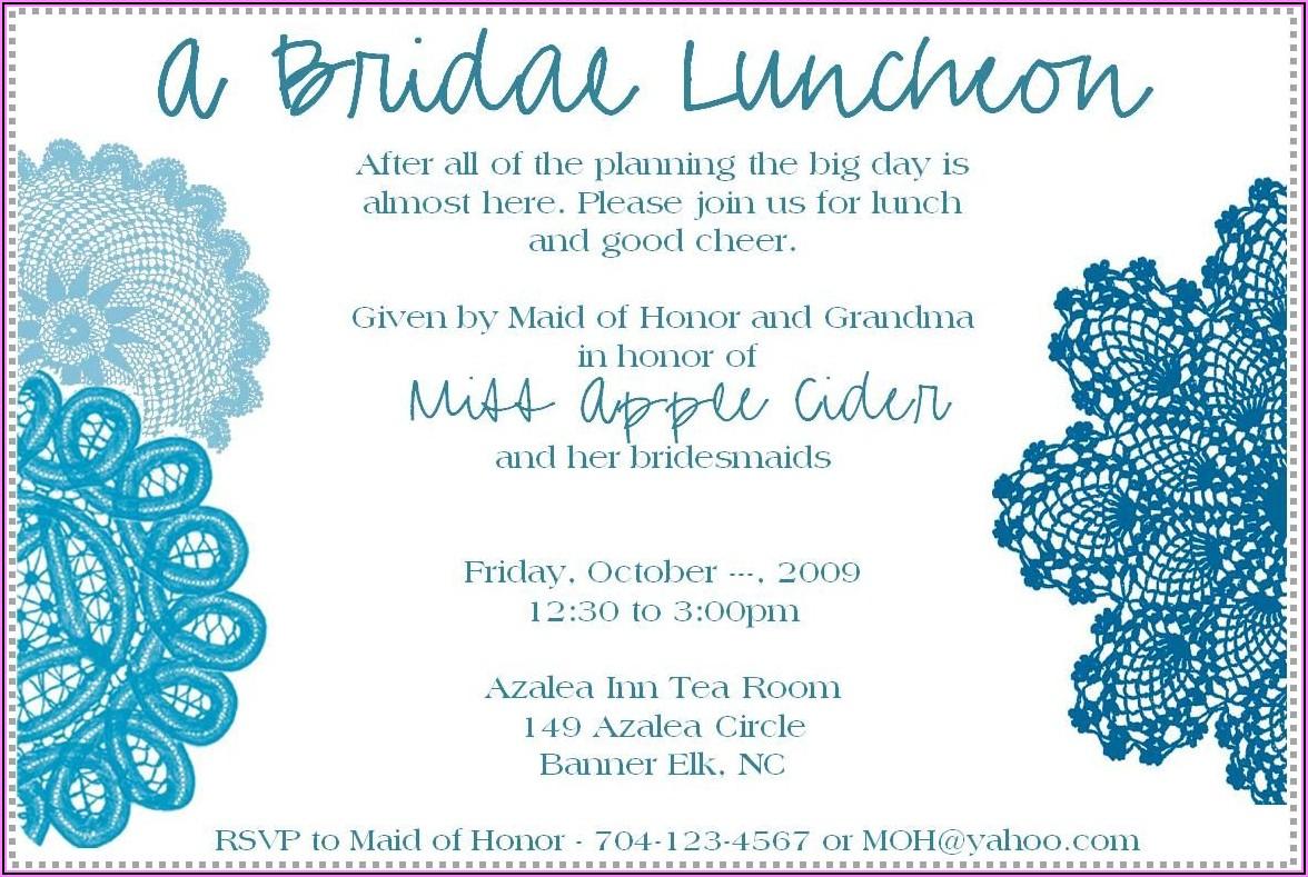 Bridesmaid Luncheon Invitations Etiquette