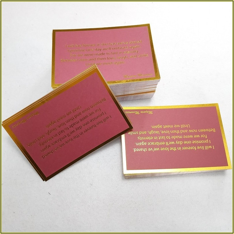 Business Card Embossed Text