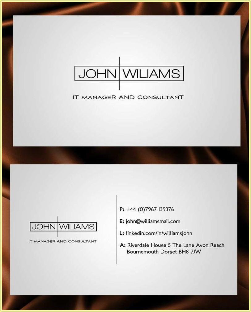 Business Card Template For Job Seeker