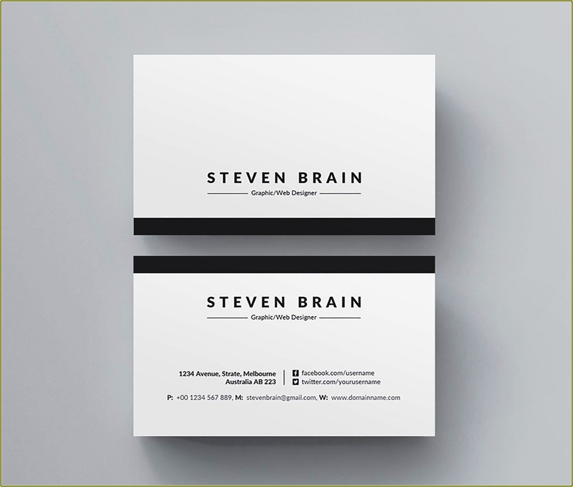 Business Card Template Word Free
