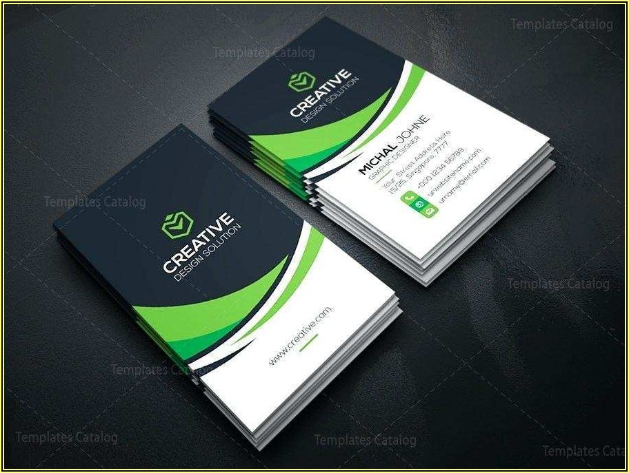 Business Card Template Word Vertical