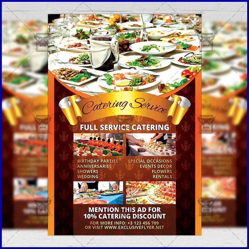 Catering Brochure Design Free Download