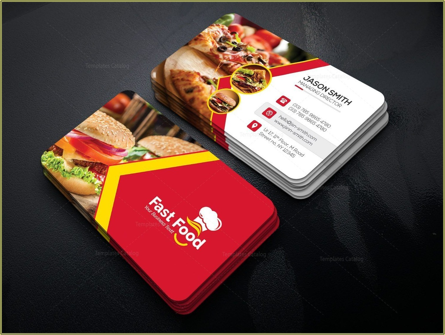 Catering Business Cards Wording