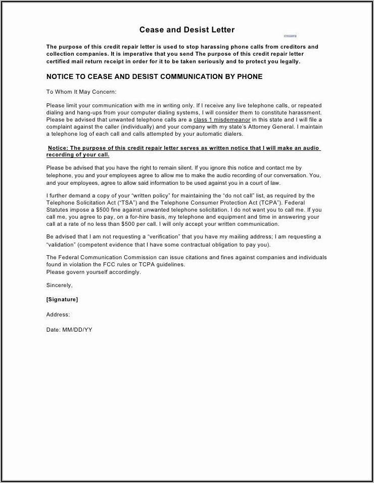 Cease And Desist Letter Sample Defamation