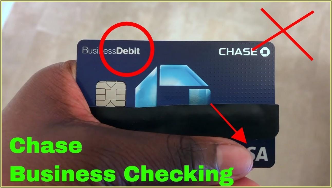 Chase Visa Business Debit Card
