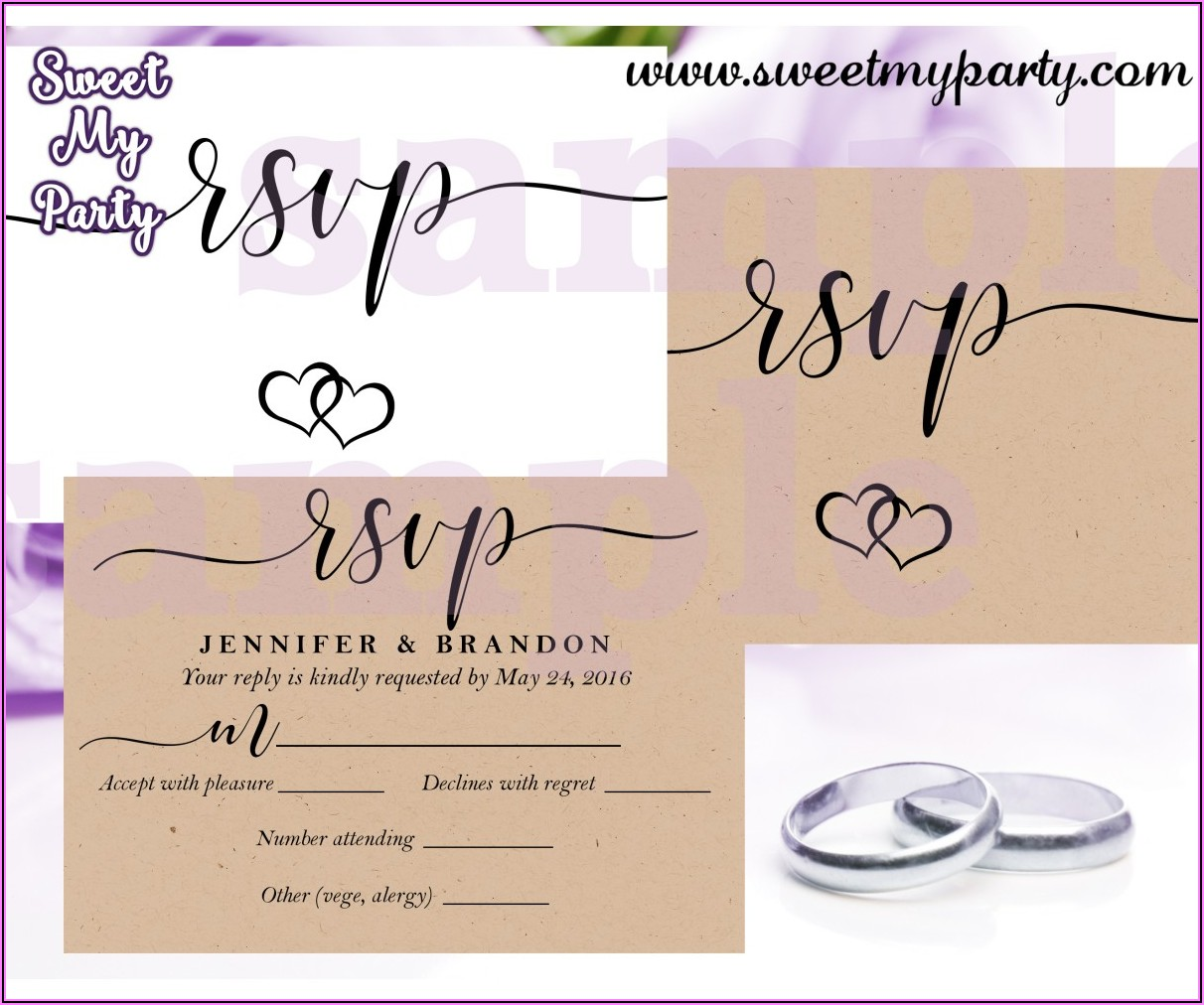 Cheap Rustic Wedding Invitations With Rsvp