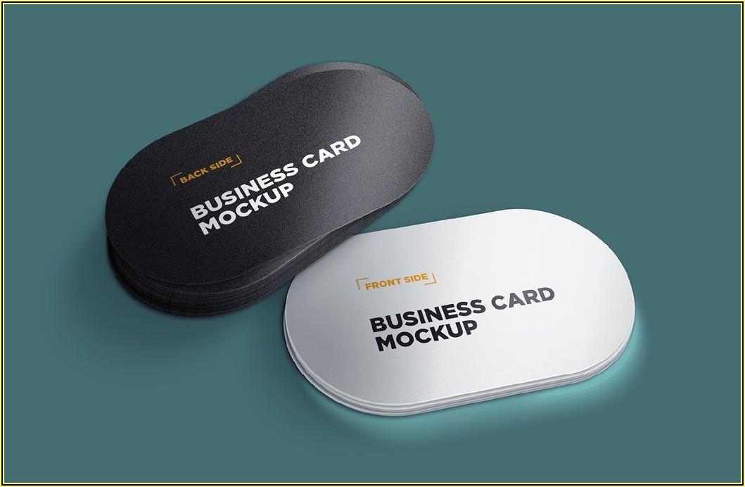 Circle Business Card Mockup Free Download