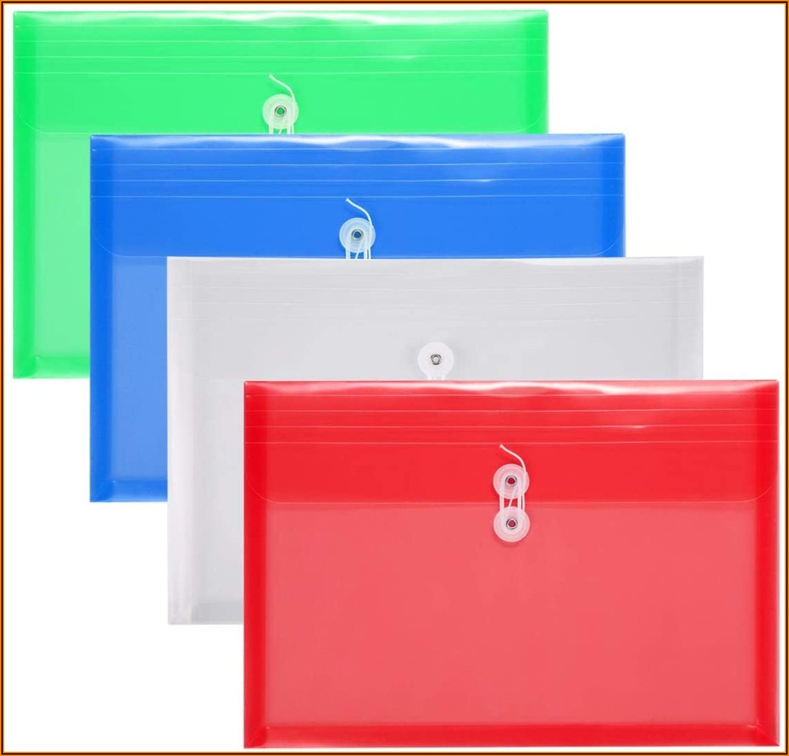 Clear Plastic Envelopes With String Closure