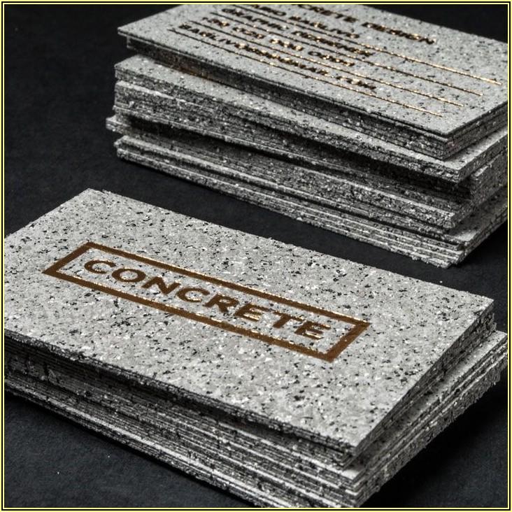 Concrete Construction Business Card Ideas
