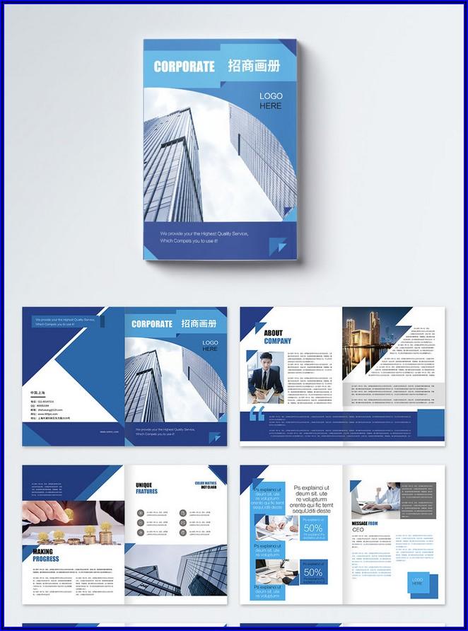Corporate Brochure Template Free