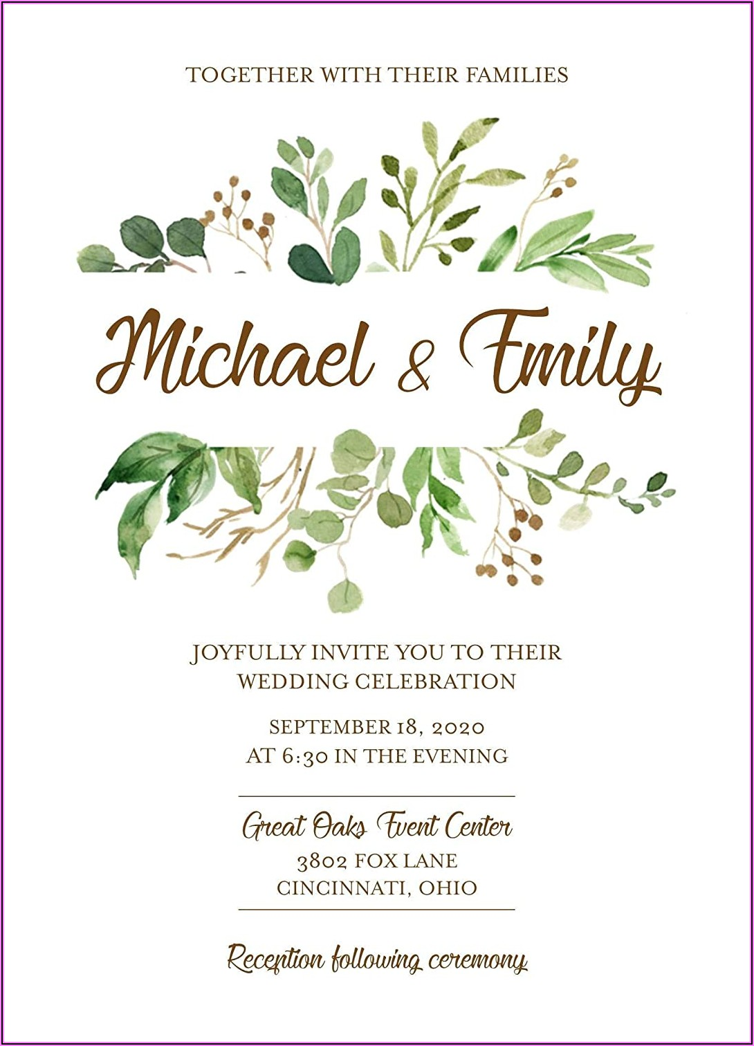 Country Rustic Wedding Invitations With Rsvp