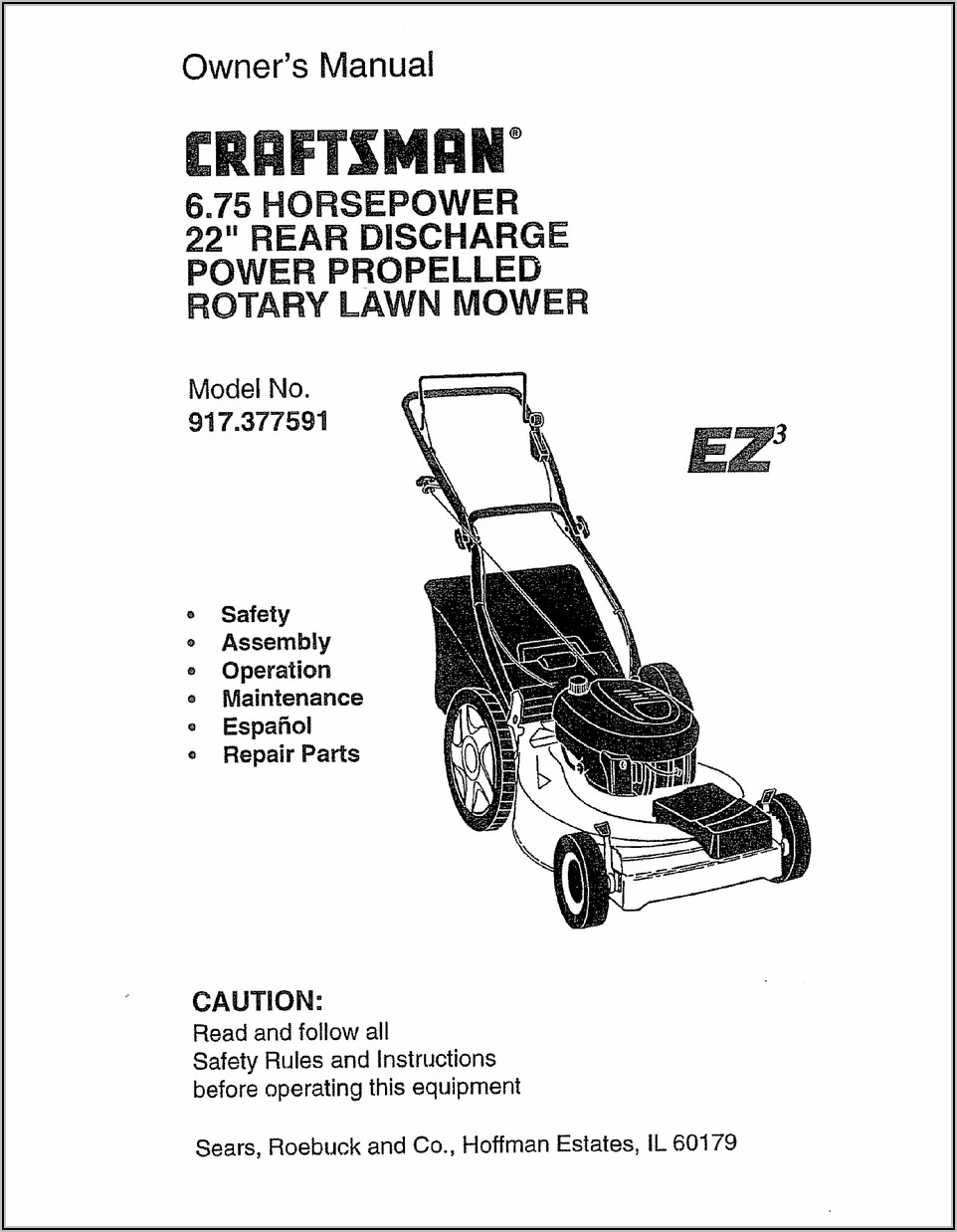 Craftsman 6.75 Lawn Mower Carburetor Diagram