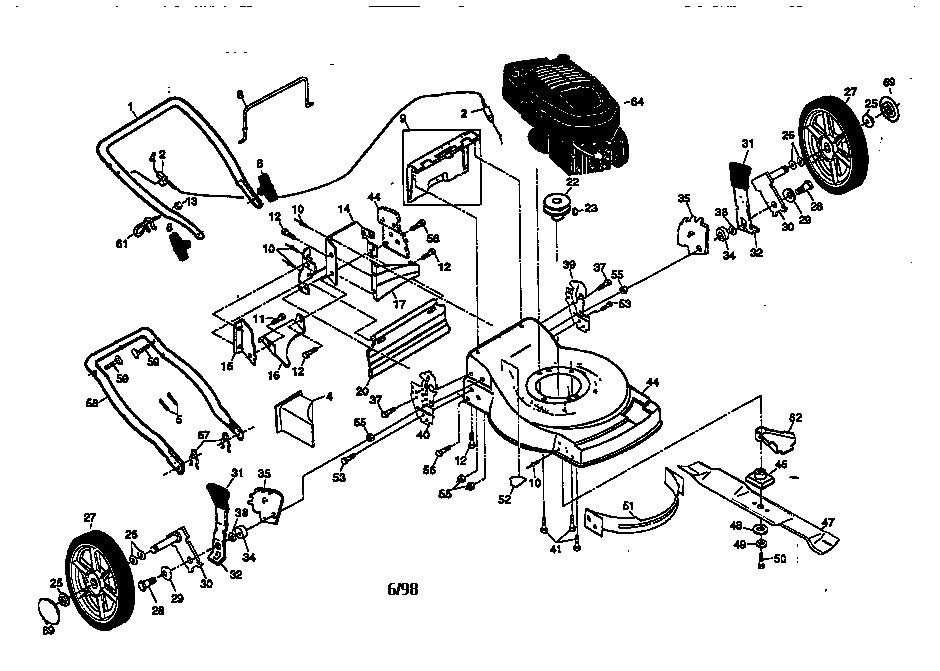 Craftsman Lawn Tractor Parts Diagram