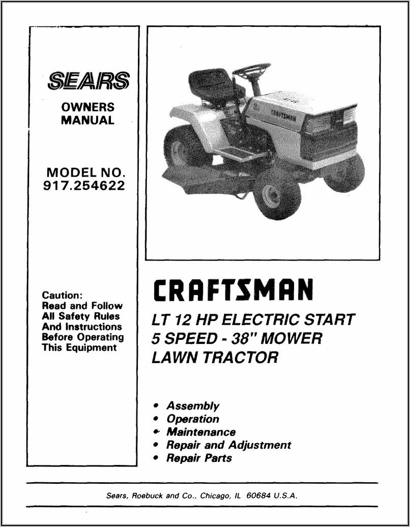 Craftsman Riding Mower Carburetor Diagram