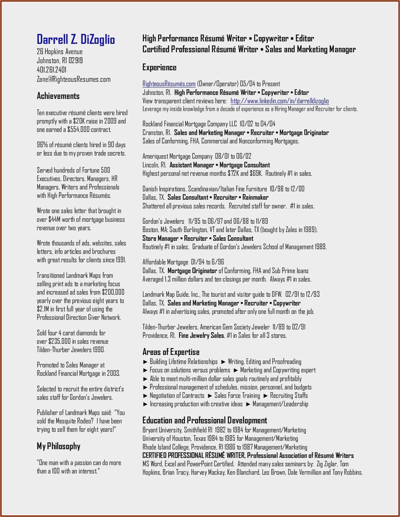 Cnc Machinist Resume Template