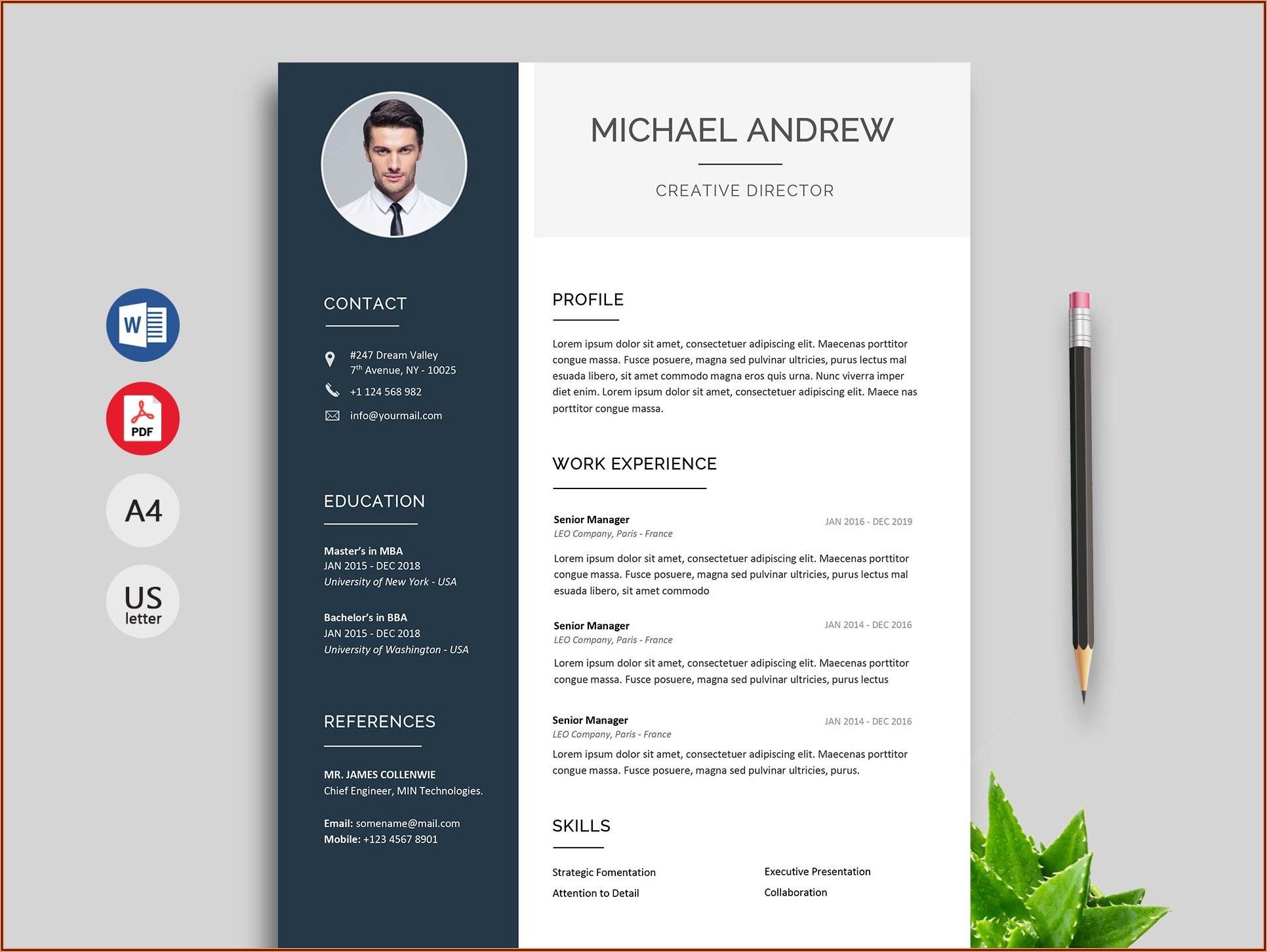 Cv Template Word File Free Download 2020