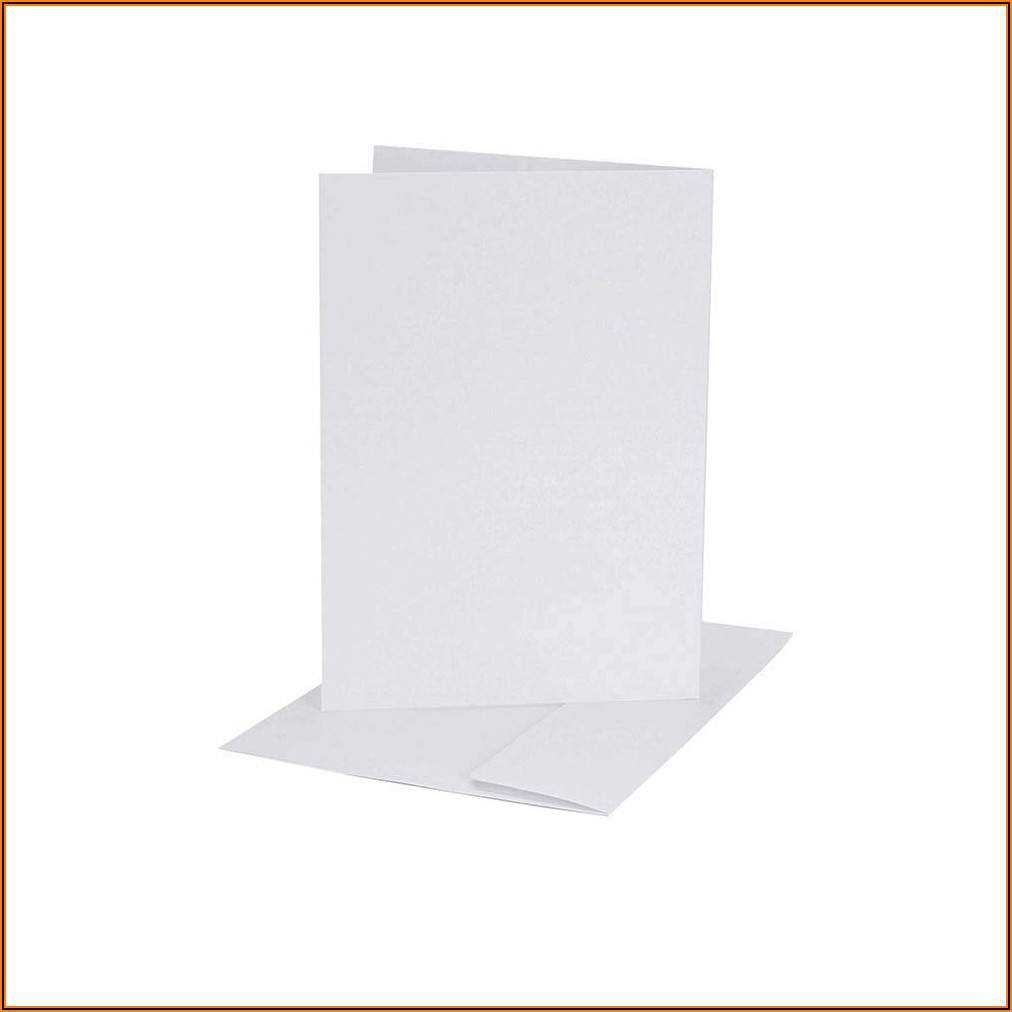 Darice White Coordination A2 Size Cards And Envelopes (set Of 50)