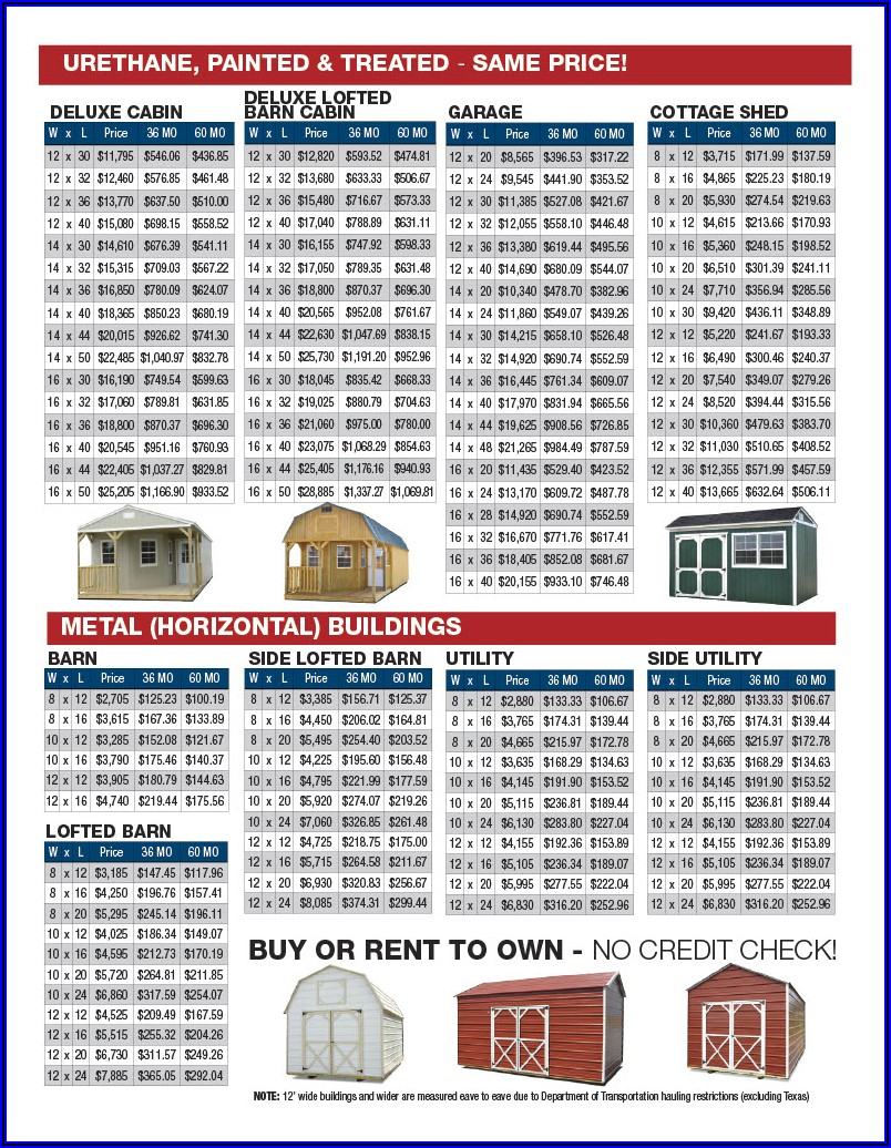 Derksen Portable Buildings Brochure