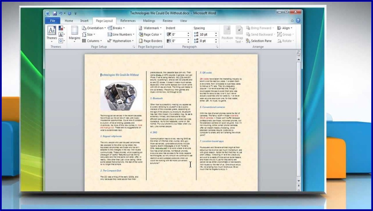 Download Booklet Template Word 2007