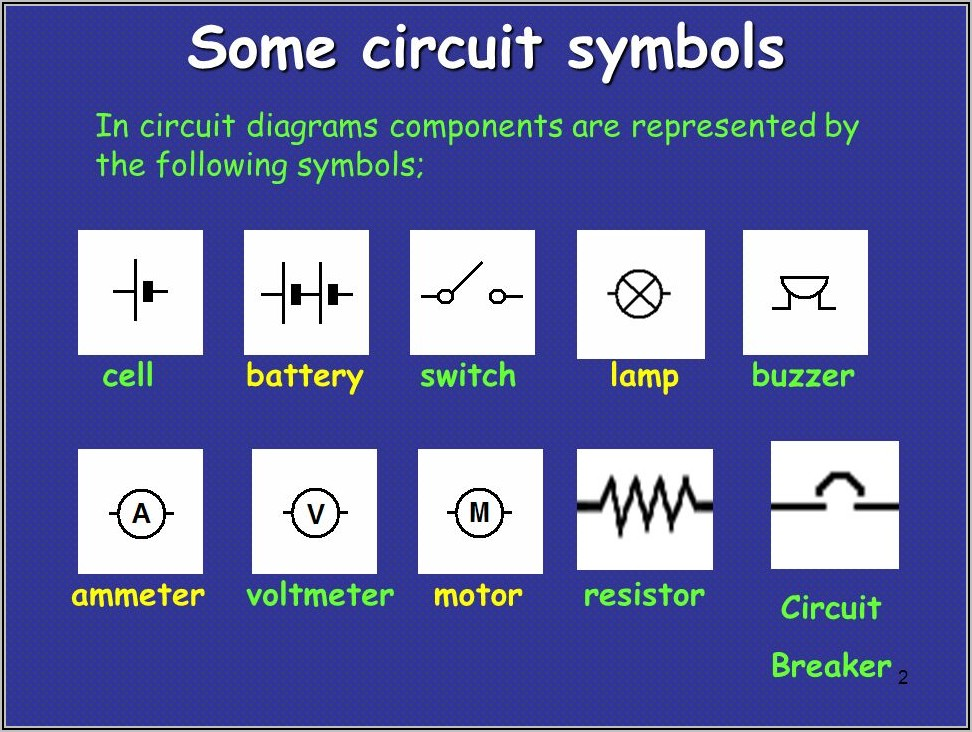 Electrical Circuit Diagrams Symbols