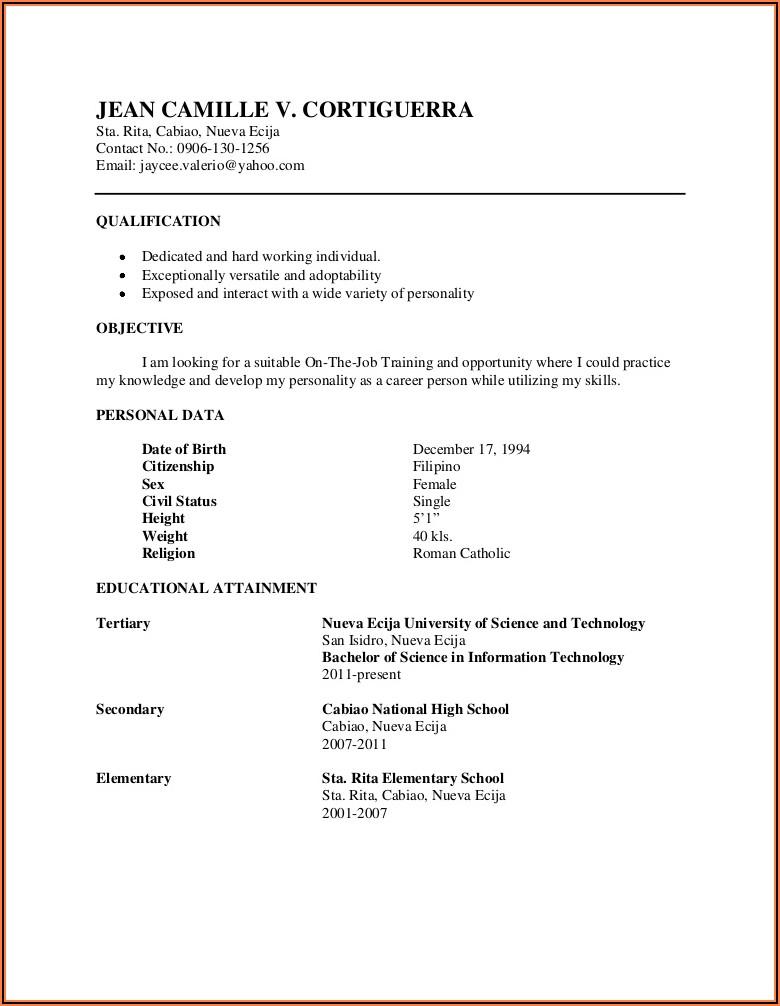 Electrical Technician Cv Samples