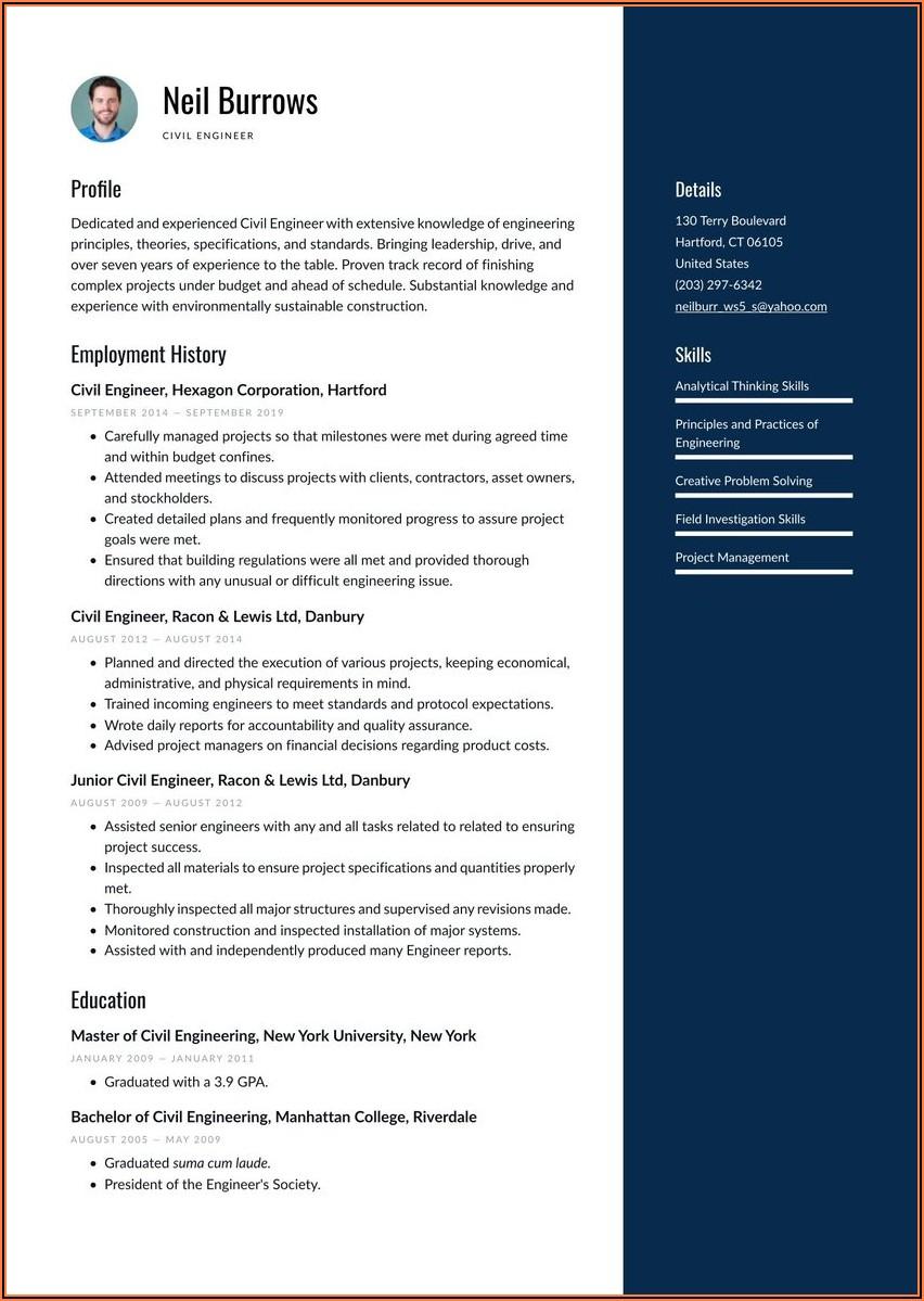 Electrical Technician Resume Template