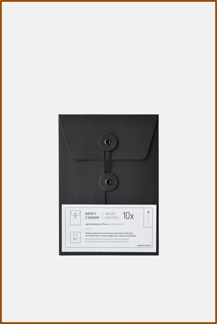Envelopes With String And Washer Closure