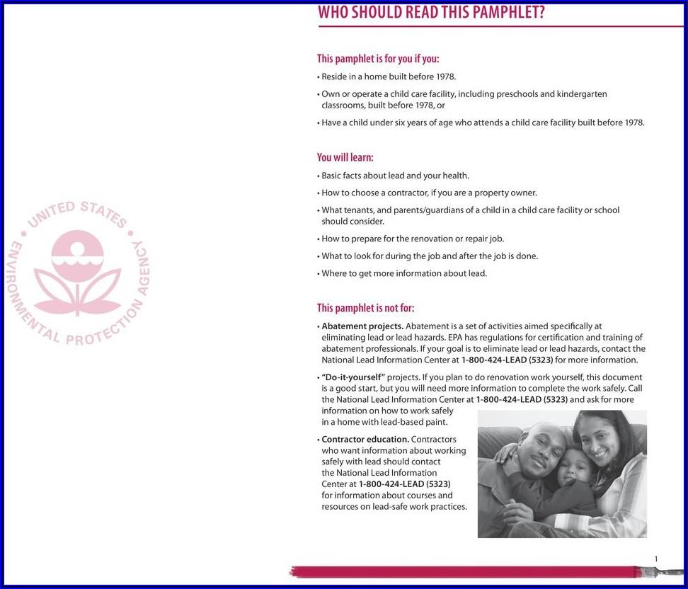 Epa Renovate Right Brochure Pdf