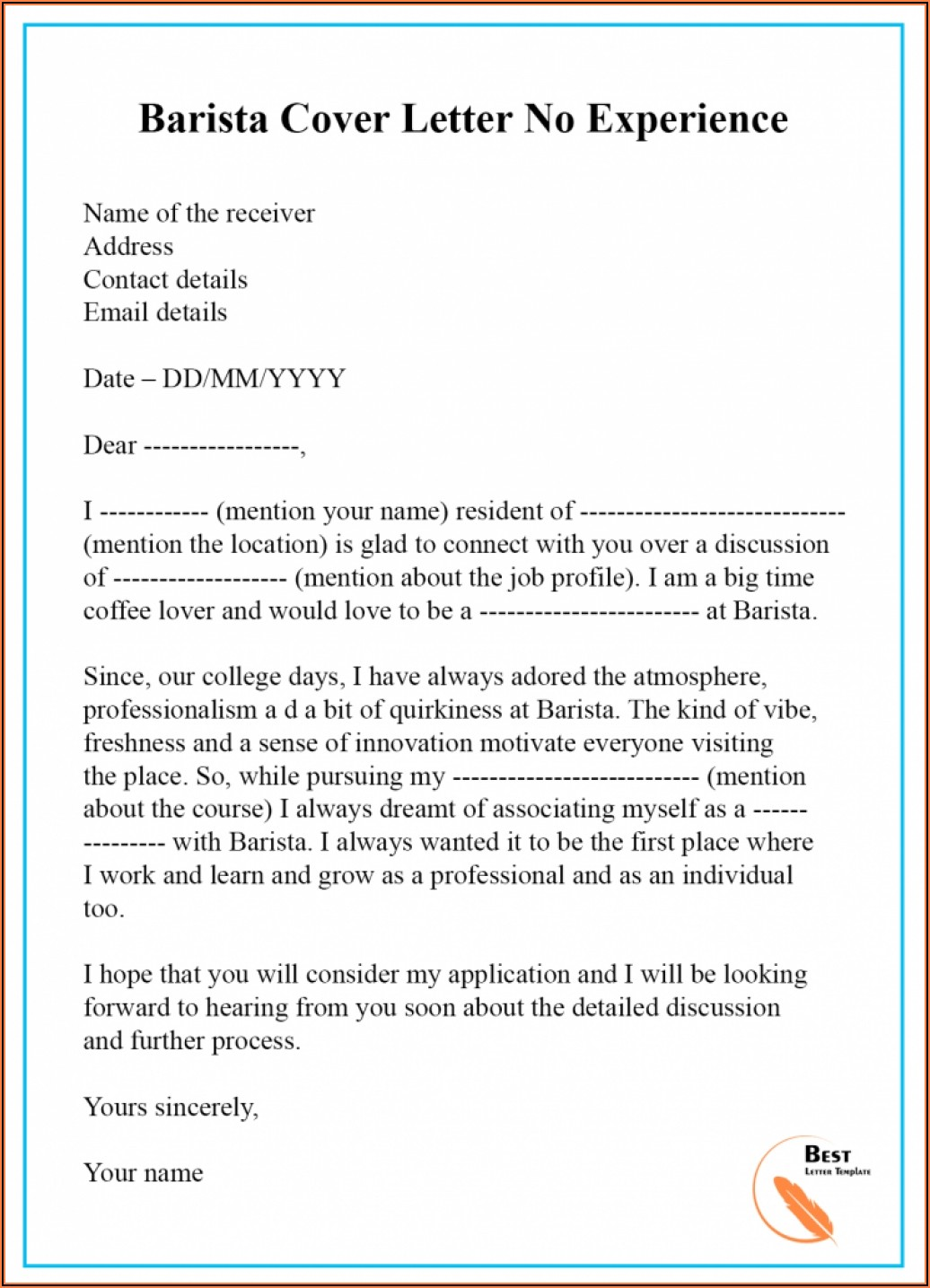 Cover Letter Sample For Students With No Experience The Perfect Job Cover Letter With No Experience 200+ Cover Letter