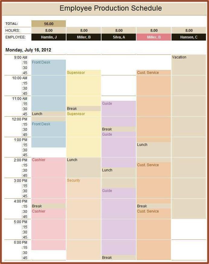 Film Production Calendar Template