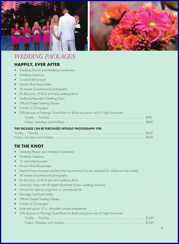 Flamingo Las Vegas Wedding Brochure