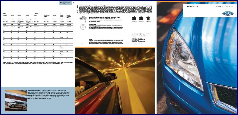Ford Protect Premium Maintenance Plan Brochure