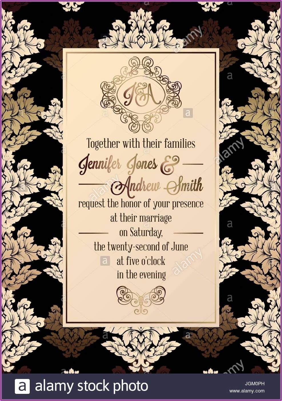 Formal Invitation Card Design Template