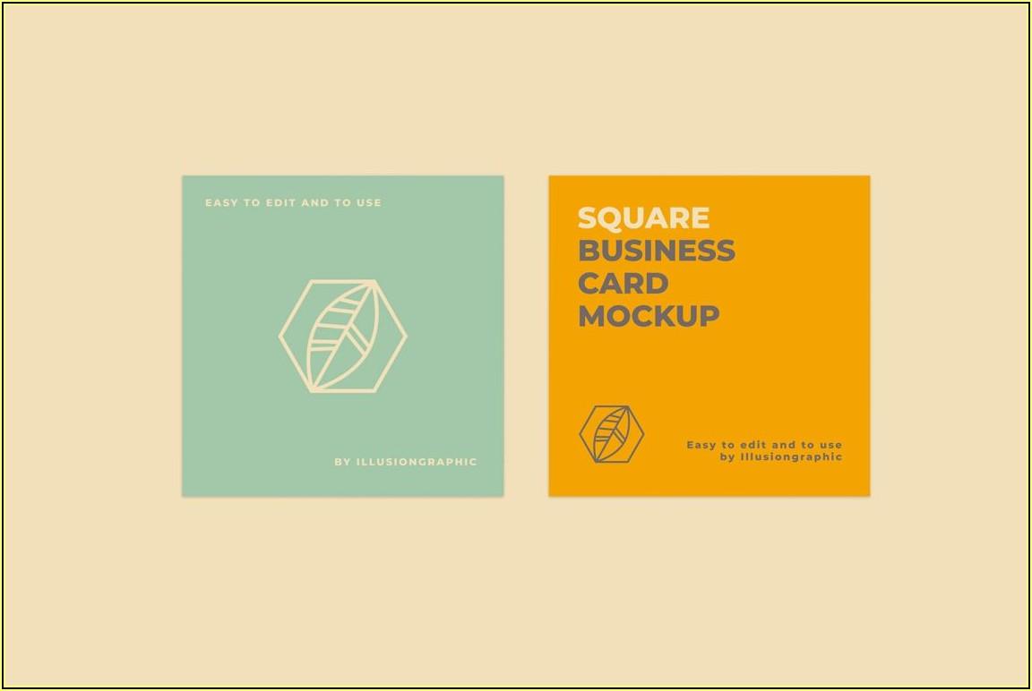 Free Circle Business Card Mockup Psd