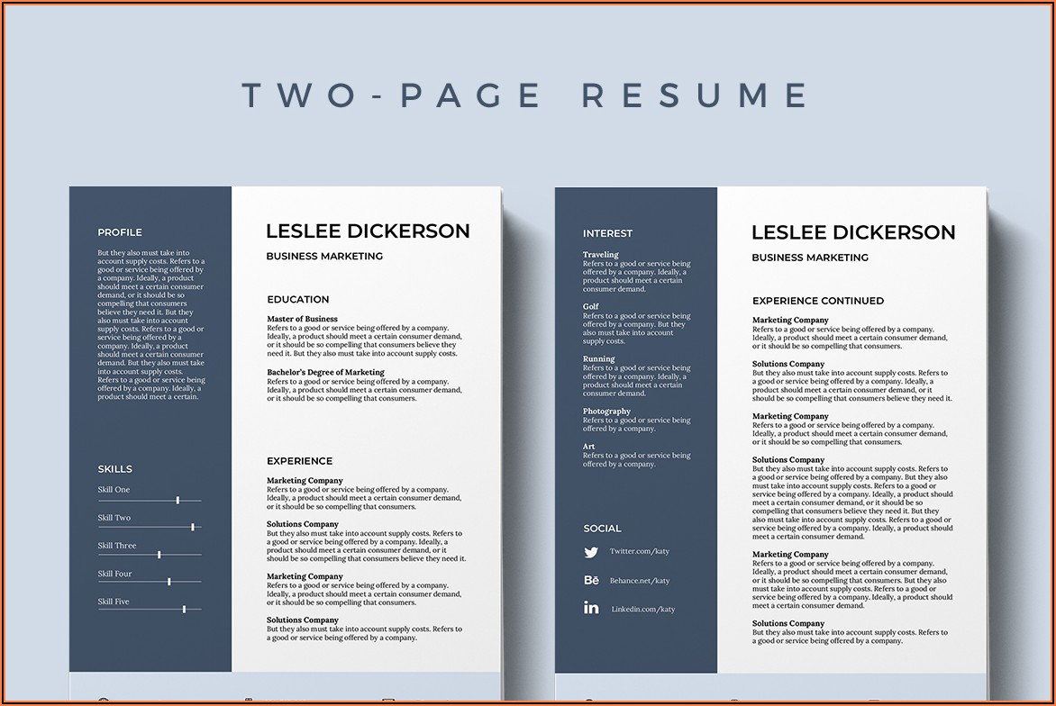Free Downloadable Pdf Resume Templates